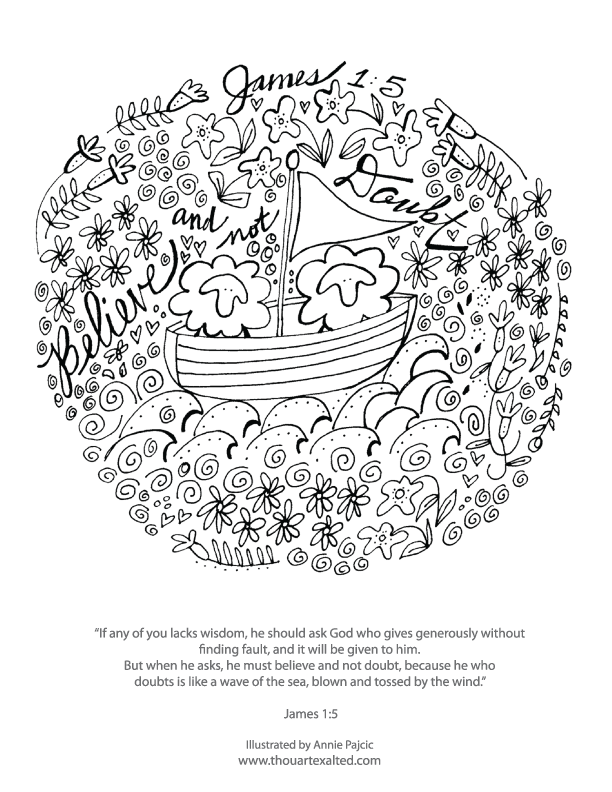 He Knows My Name Coloring Page Download