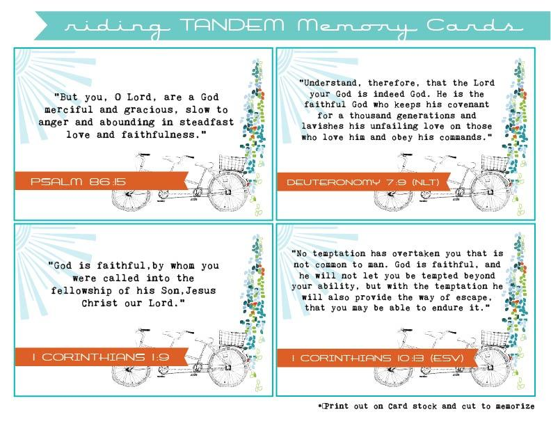 Riding Tandem Memory Cards – ThouArtExalted